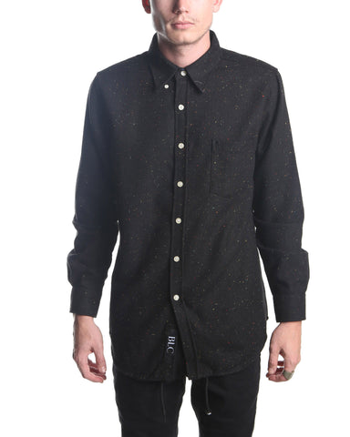 Long Sleeve Spreckled Shirt (Black)