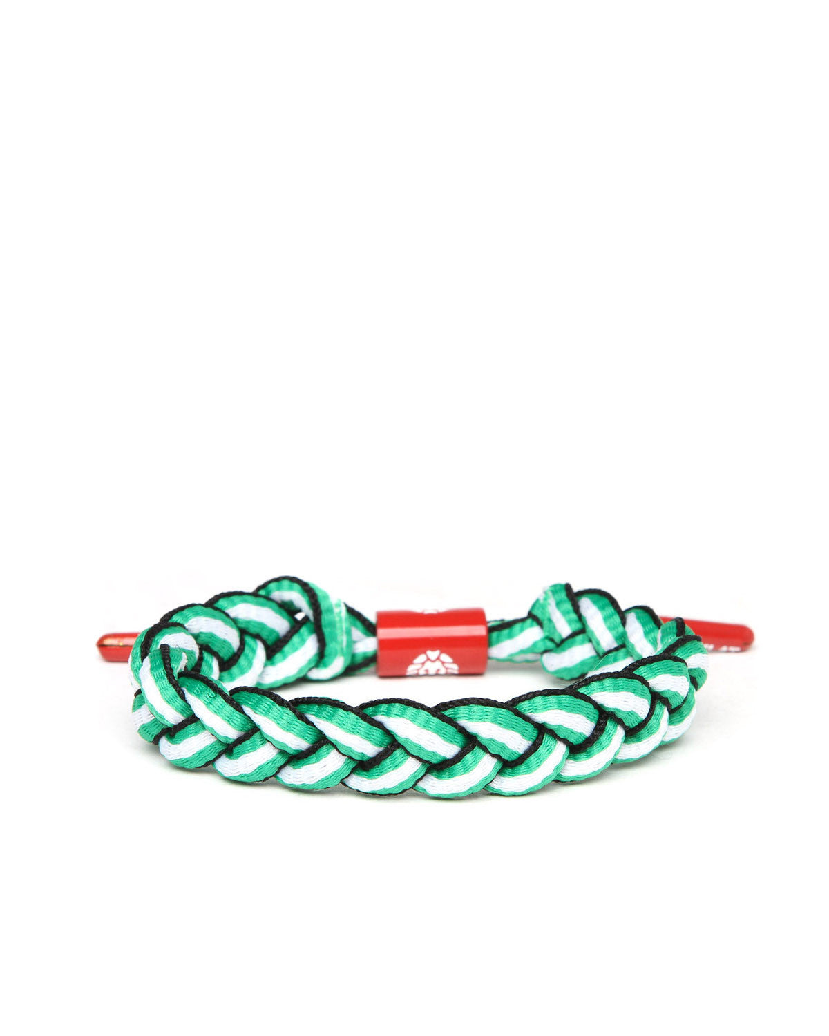 St. Patty Shoelace Bracelet (Green/Red/White)
