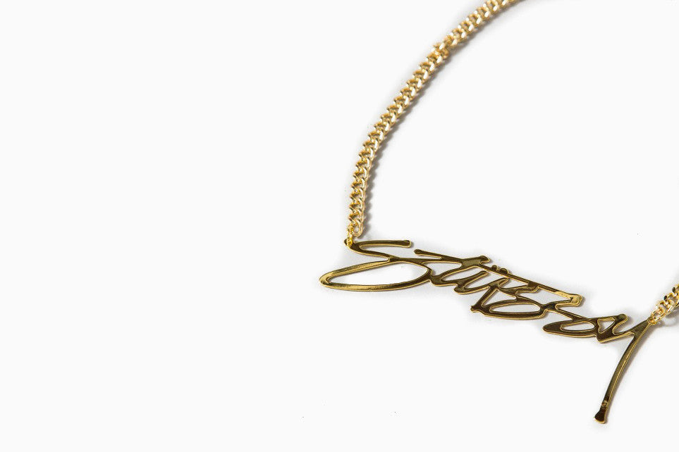Stussy Smooth Necklace (Gold)