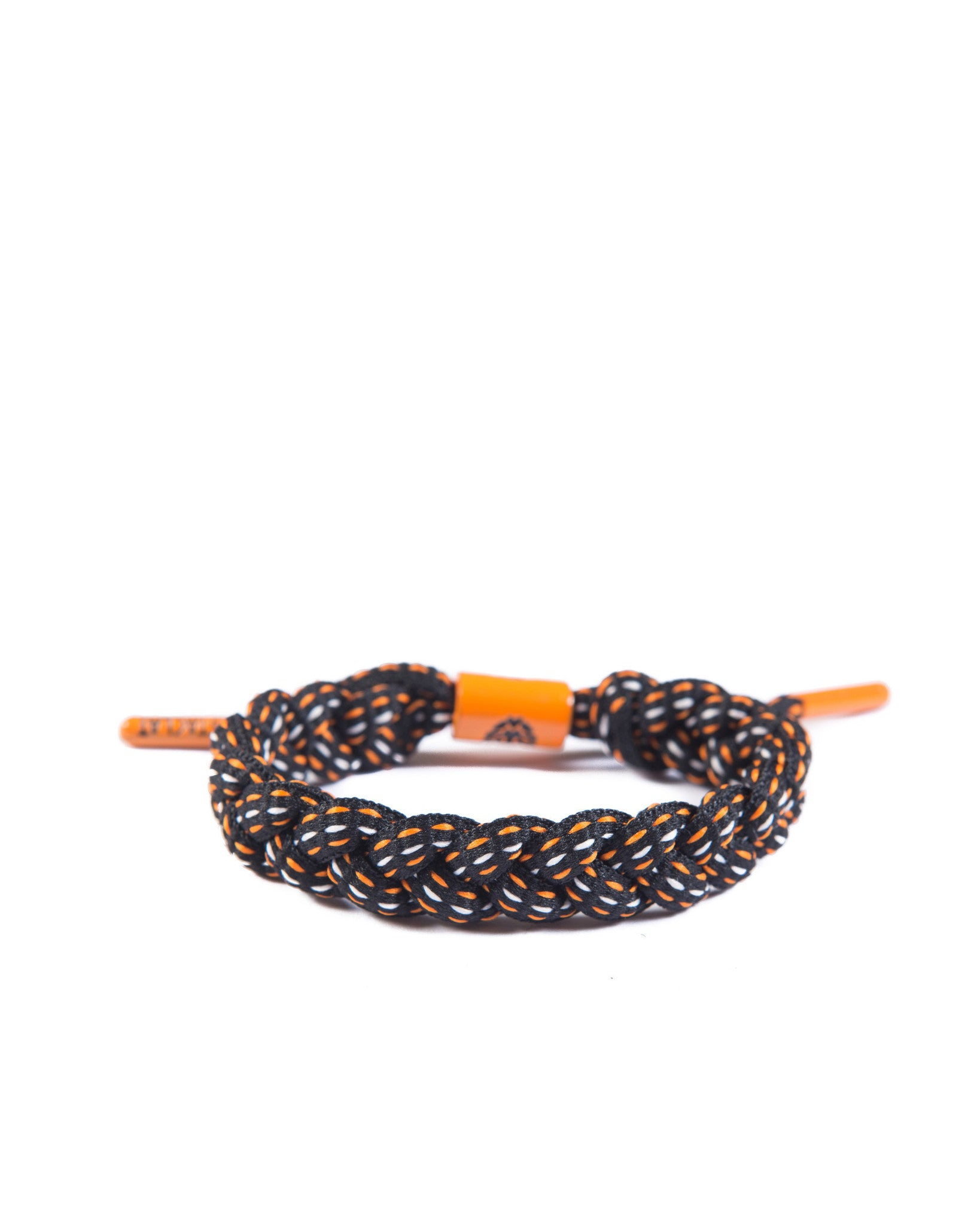 The Bay Shoe Lace Bracelet (Black/Orange)