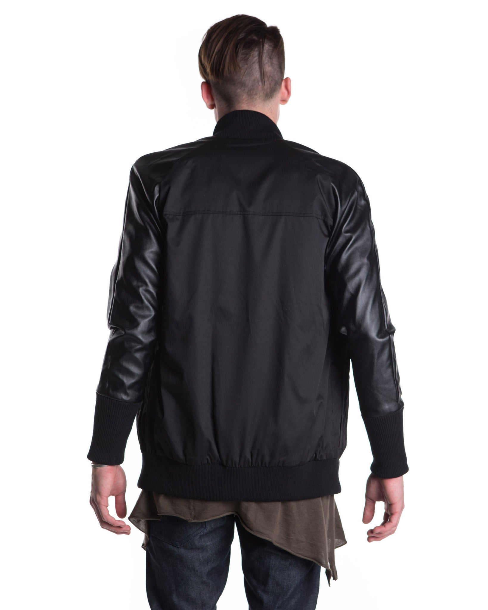Tonal Varsity Jacket (Black)