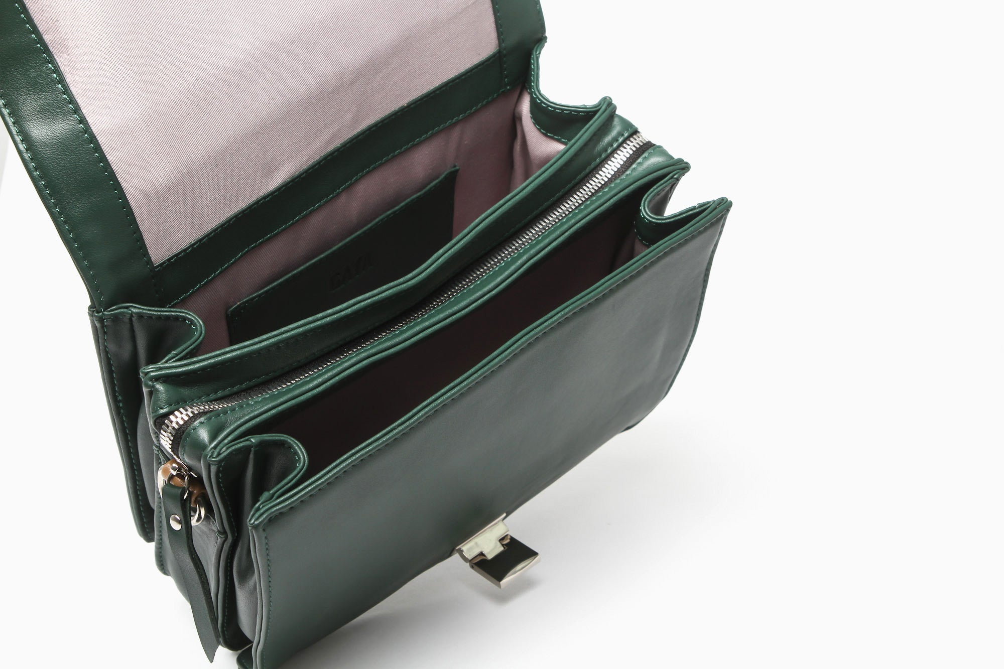 Two Toned Messenger (Green/Tan)