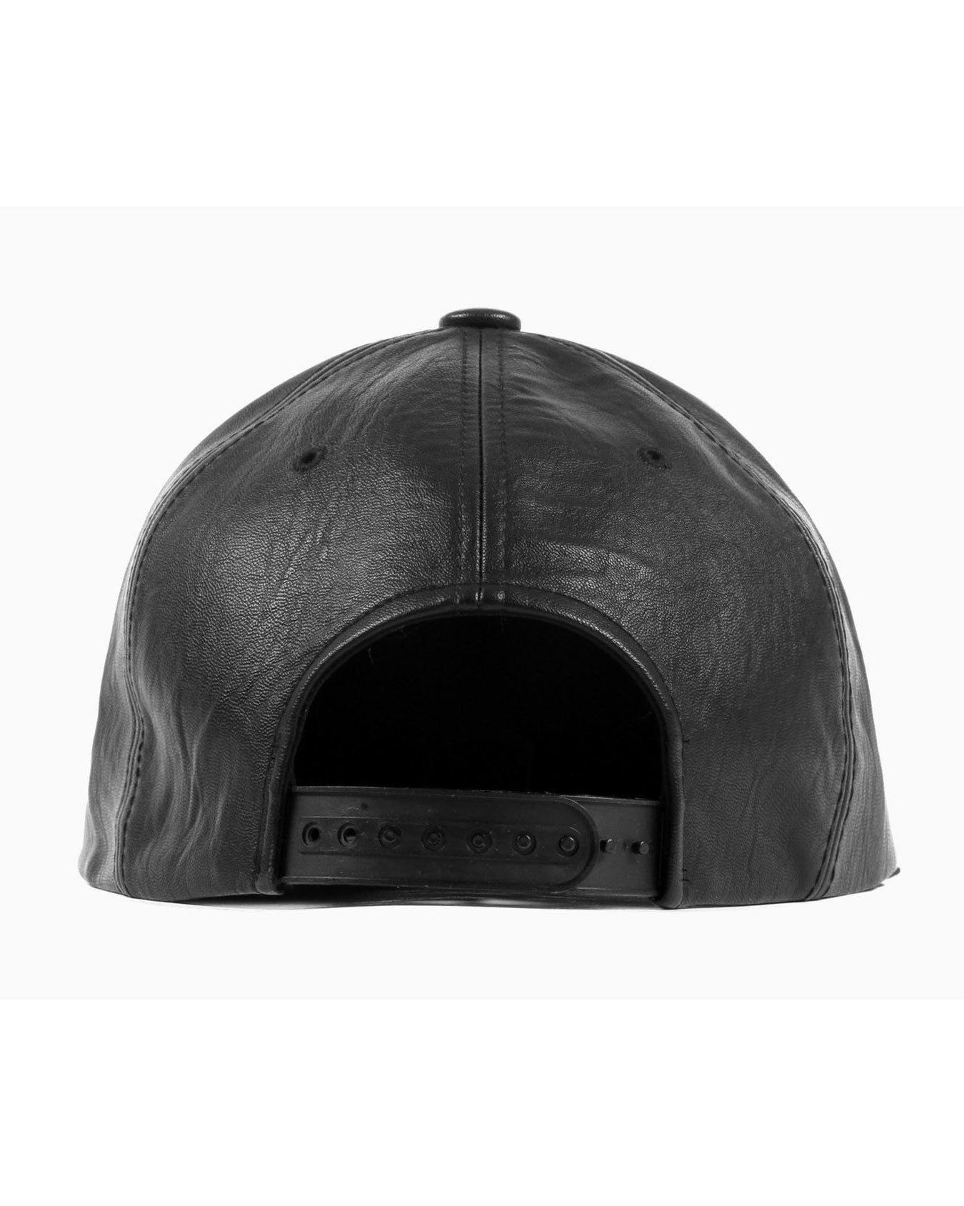 Vegan Leather Snapback (Black)