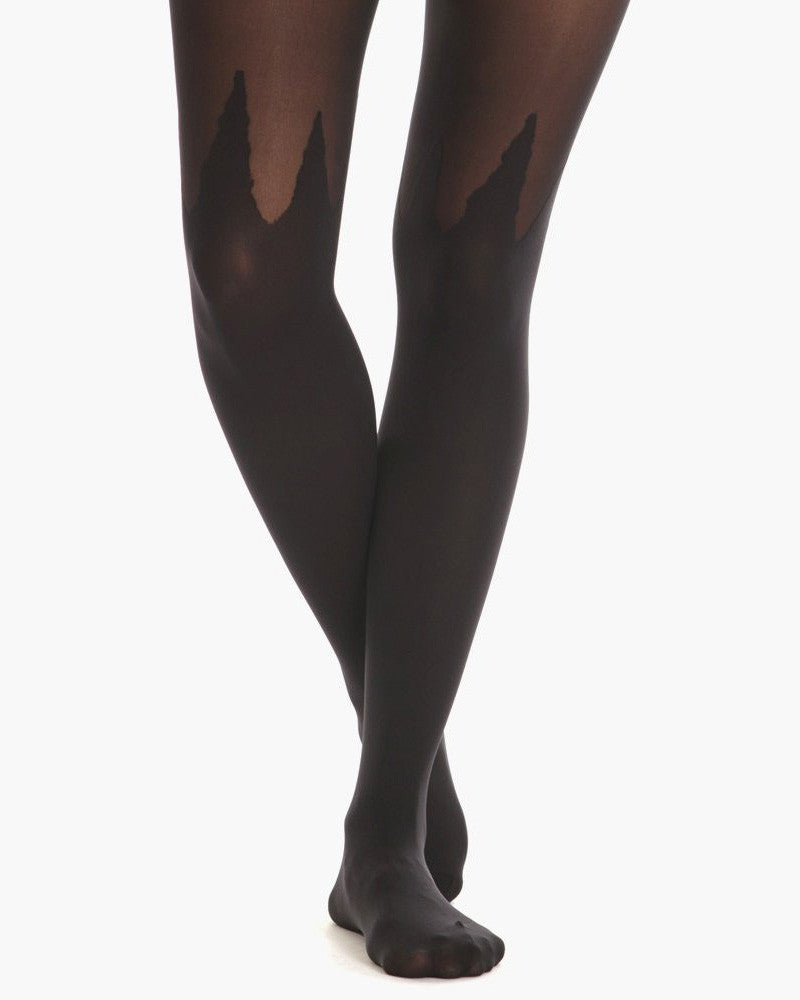Women's Spike Mock Tights (Black)