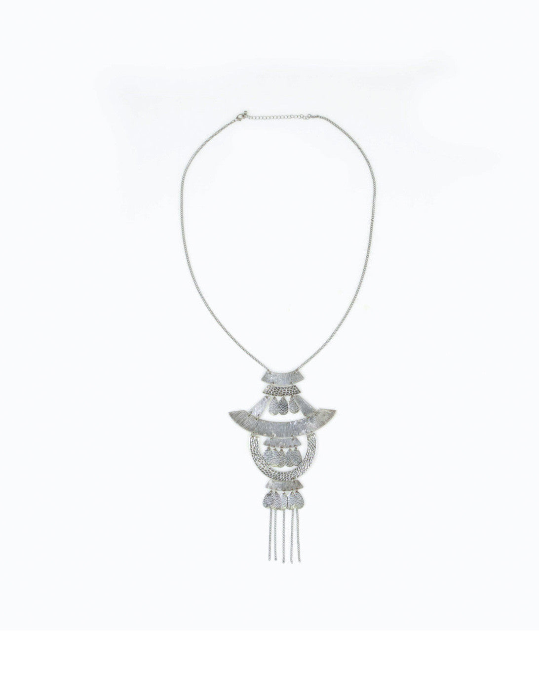 Katja Tiered Necklace (Antique Silver)