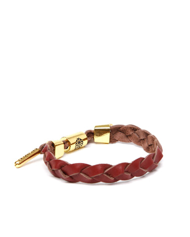 Reio Leather Braided Bracelet (Merlot)