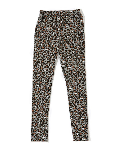 Women's Leopard Leggings (Heather Grey)