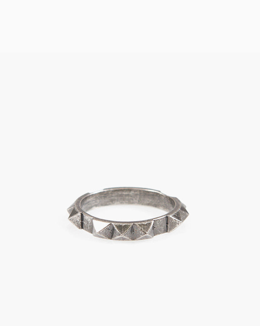 Full Punk Stud Ring (Antique Nickel)