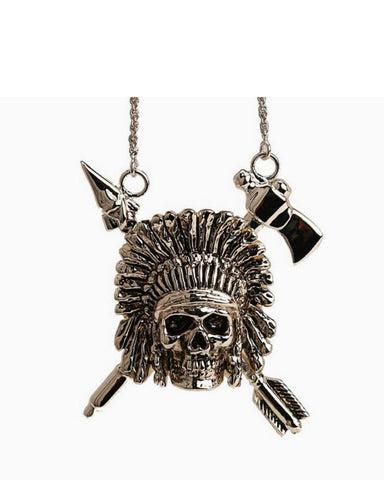 Indian Chief Necklace (Silver)