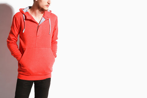 Men's Division Fleece Pullover (Red)