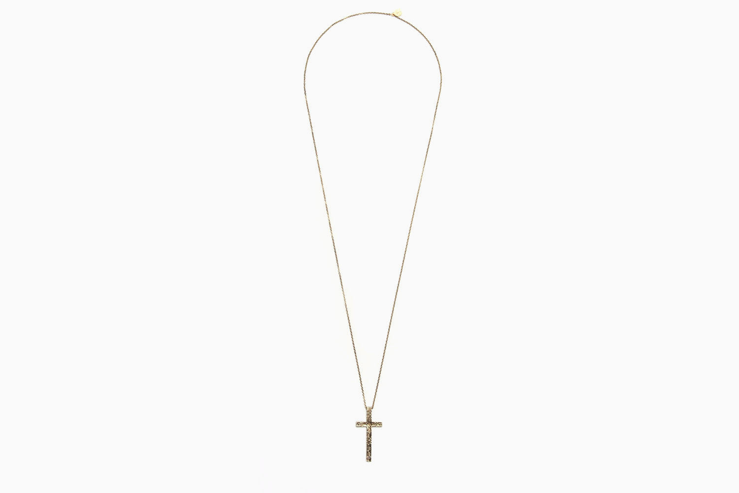 House of Harlow - Engraved Cross Pendant Necklace (Gold)