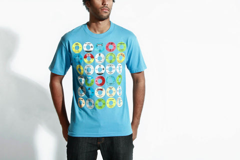 Men's Yo! 45s Tee (Blue)