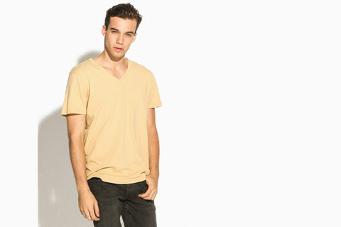 Men's Premium Basic High Cut V-Neck Tee (Nutmeg)