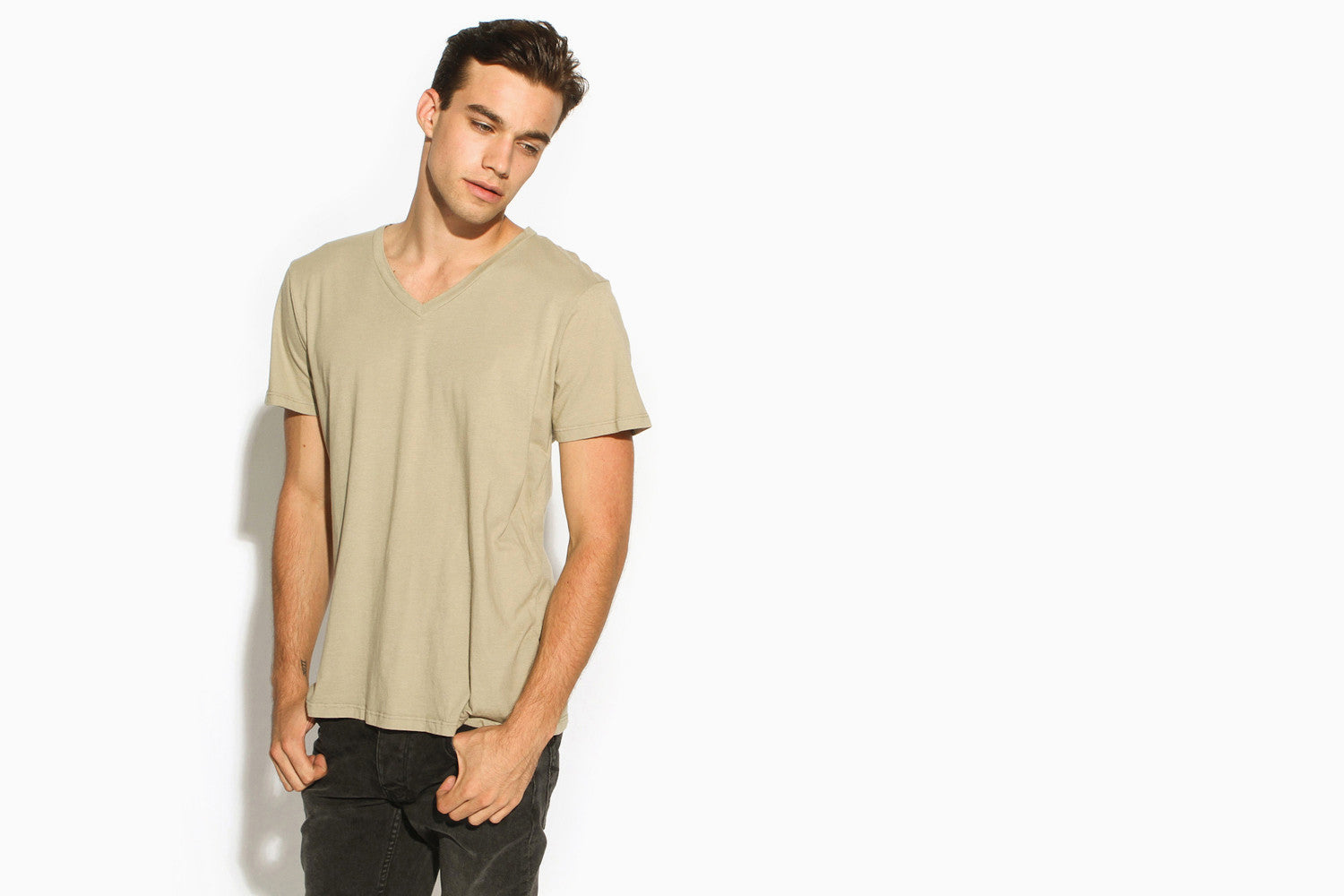 Men's Premium Basic High Cut V-Neck Tee (Gerolsteiner)
