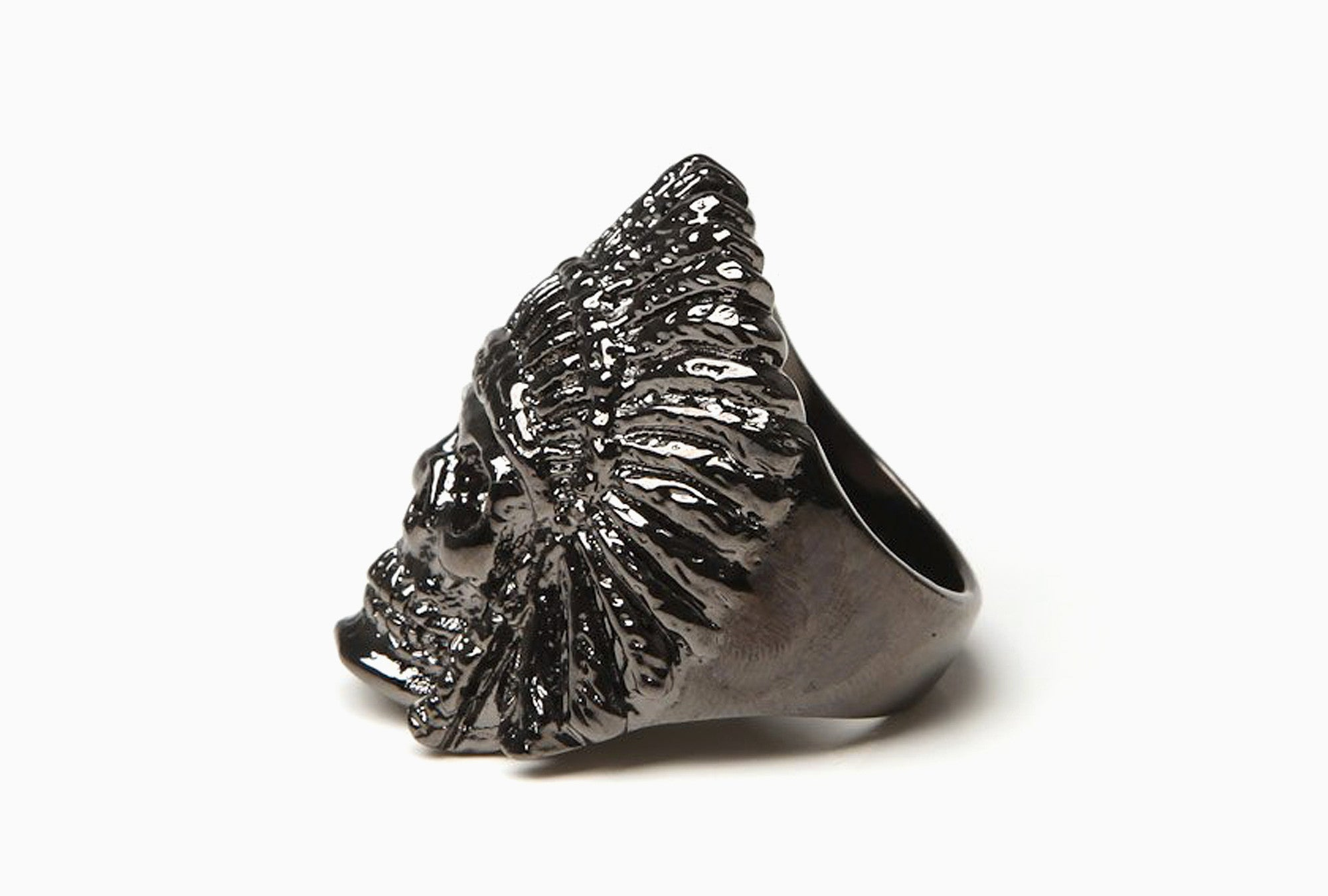 Indian Chief Ring (Gunmetal)