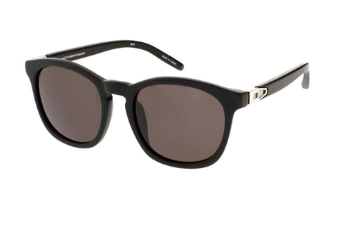 Alexander Wang by Linda Farrow Retro Wayfarer Sunglasses (Matte Black)