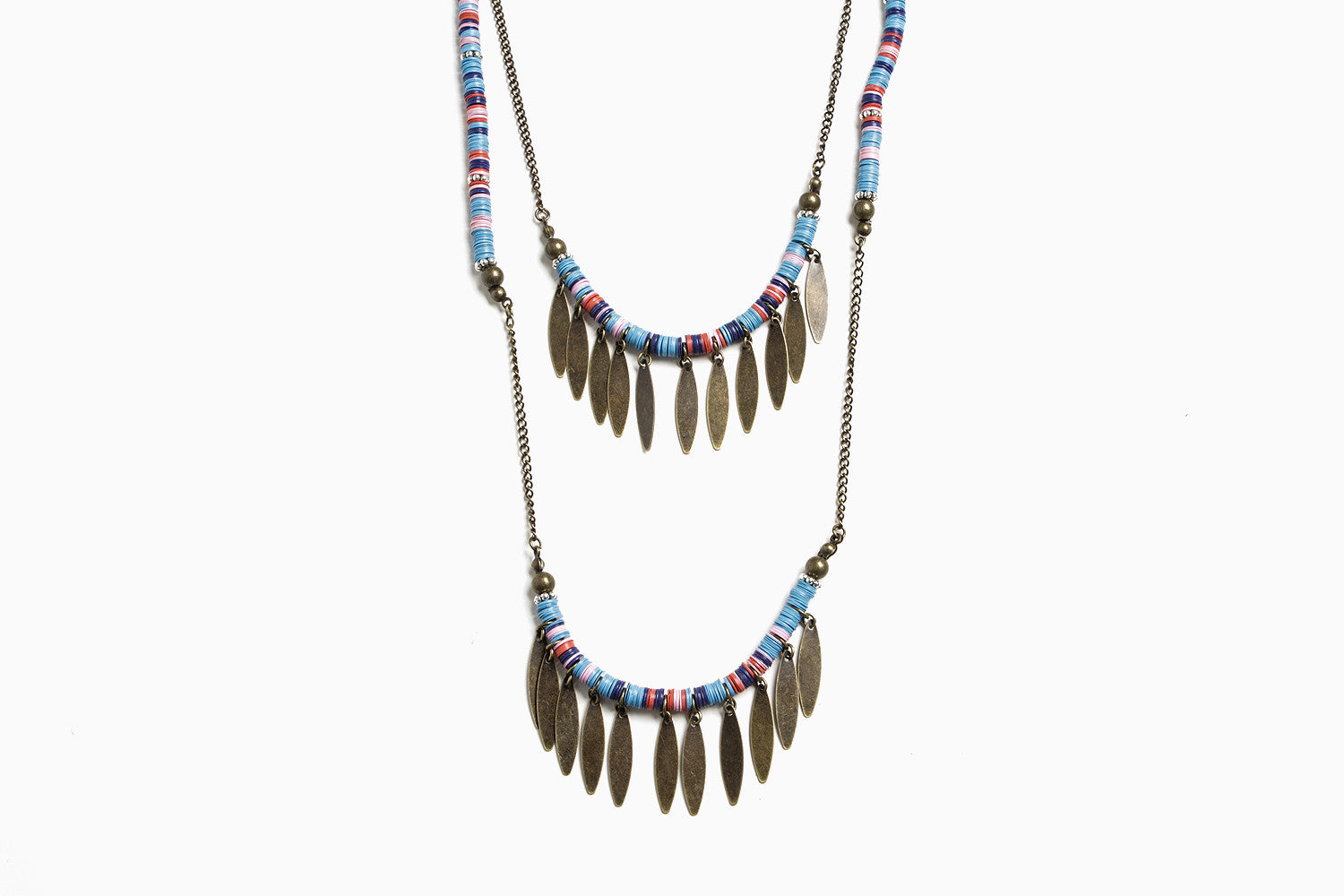 Multi Color Disc Necklace (Multi)