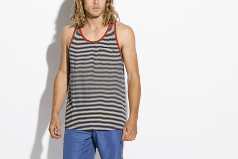 Men's Deadbeat Tank (Fog/Mood Indigo)