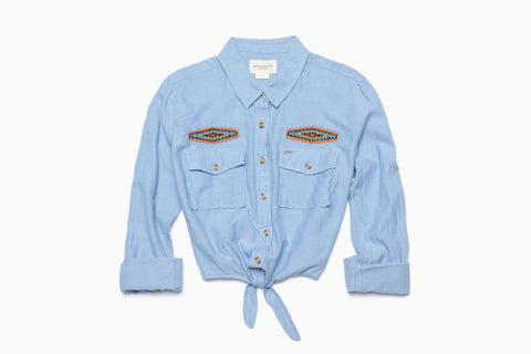 Women's Logan Shirt (Light Blue)