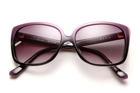 Solitaire Oversized Square Sunglasses (Lavender))