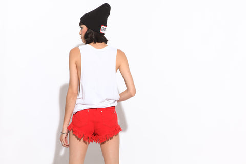 Women's Dipper Shorts (Techno Red)
