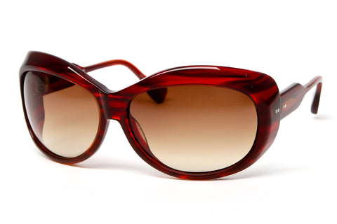 Galore Oversized Wrap Sunglasses (Red)
