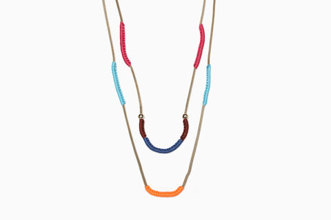 Wrapped Chain Necklace (Multi)