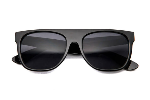 Bloc Top I Retro Flat Top Wayfarer Sunglasses