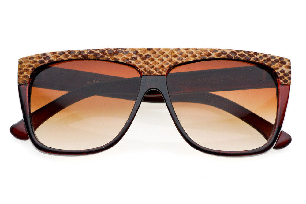 Snake II Oversized Flat Top Sunglasses