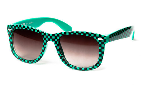 Check Me Out Patterned Wayfarer Sunglasses