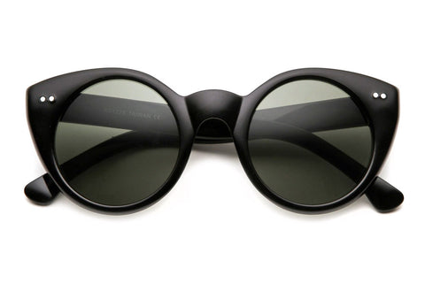 Annette Vintage Rounded Cateye Sunglasses