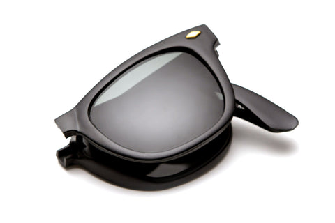 Folding Wayfarers w/ Case Sunglasses