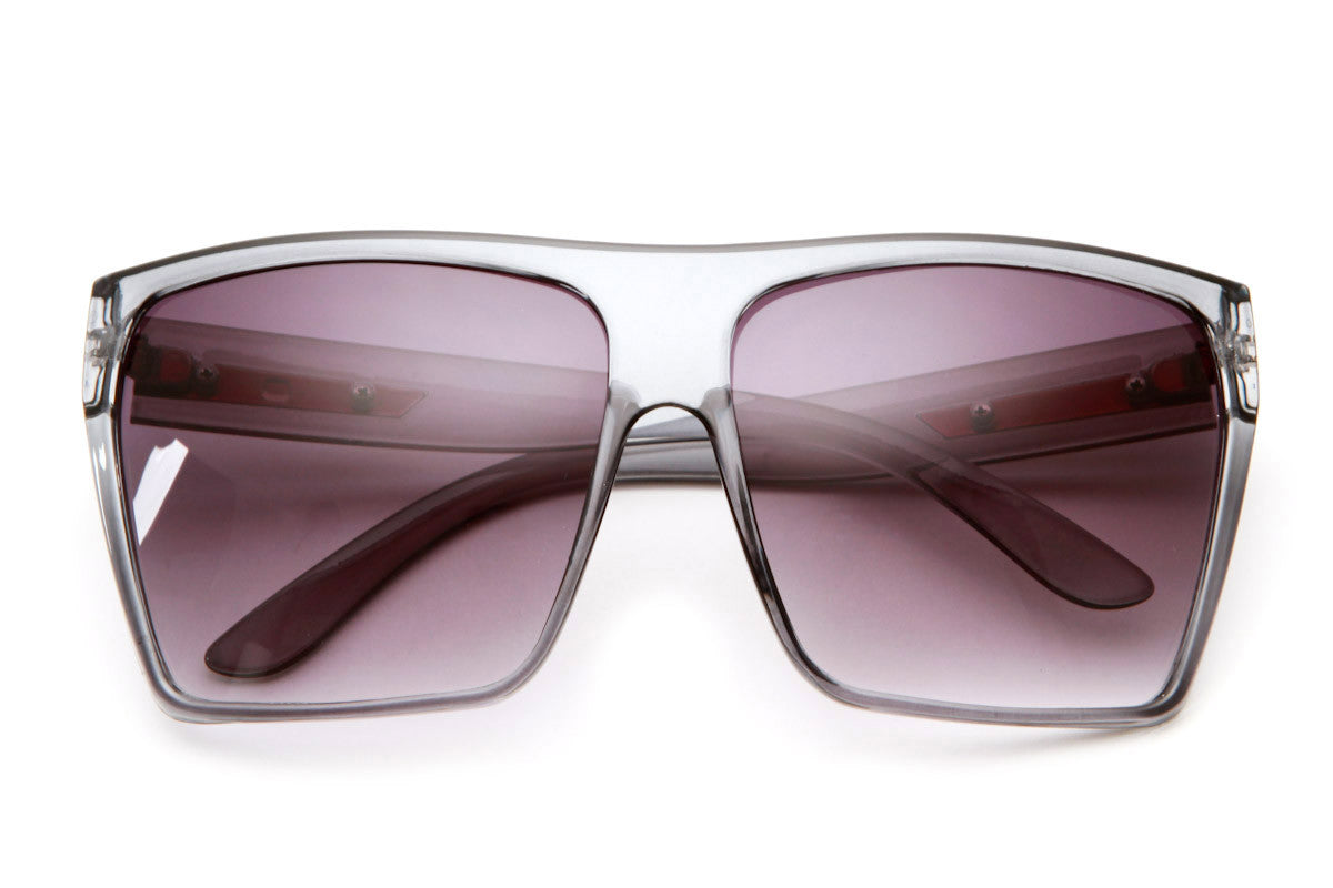 Obtuse Square Oversized Frame Sunglasses