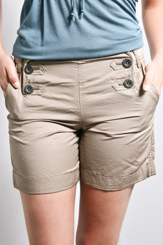Women's Sailor Front Shorts (Stone)