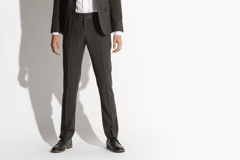 Men's Suit 'The Finest' Slim Fit Suit Pants (Paint it Black)