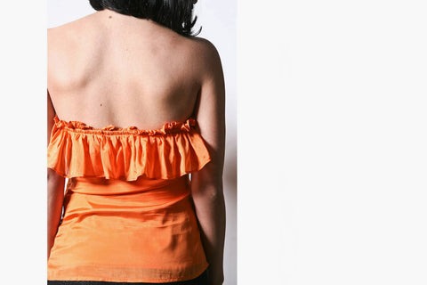 Women's Ruffled Drawstring Top (Amber)