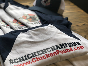 CHICKEN POUND ALLEGIANCE Baseball Tee