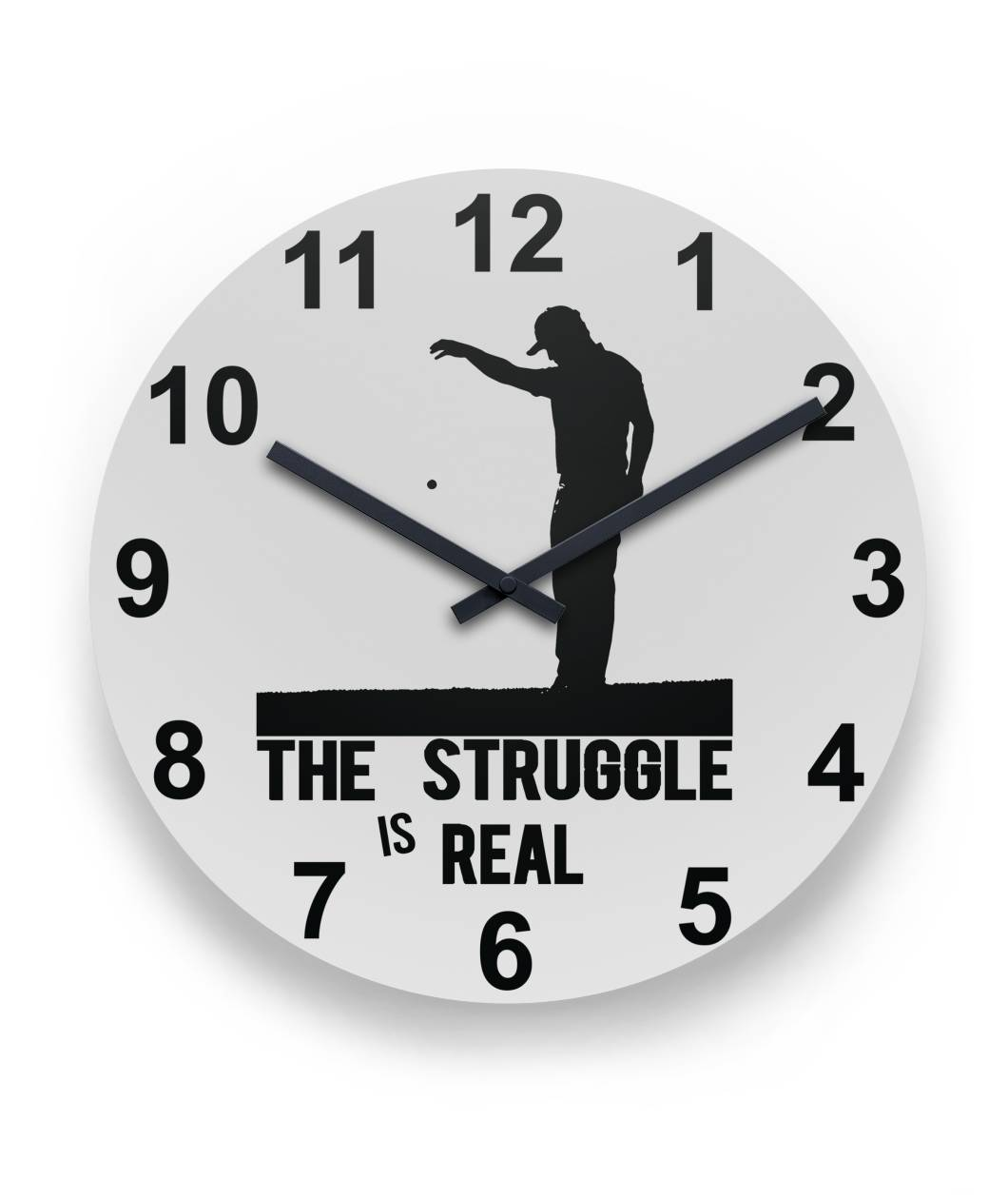 "The Struggle Is Real - Golf Wall Clock 11"" Round Wall Clock"