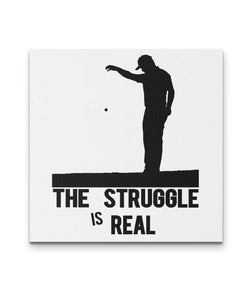 The Struggle Is Real Canvas Art - Golf Art Wall Decor