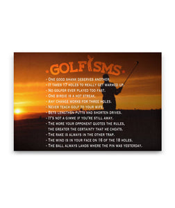 Golfisms - Golf Sayings Canvas Art