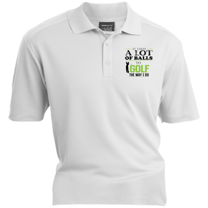 It Takes A Lot Of Balls To Golf The Way I Do - Nike® Dri-Fit Polo Shirt  - White