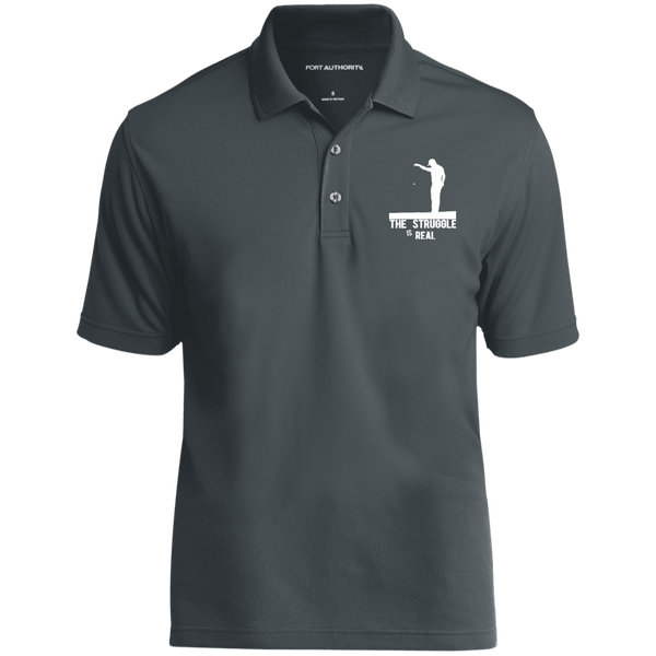 The Struggle Is Real- Port Authority Dry Zone UV Micro-Mesh Polo Grey