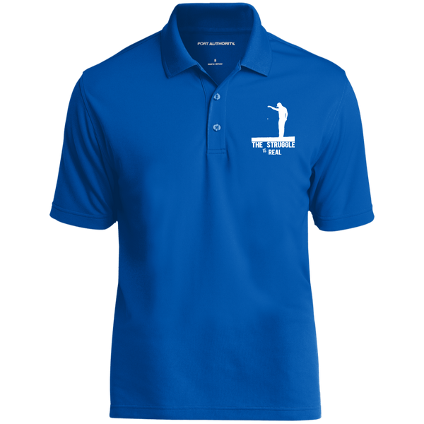 The Struggle Is Real- Port Authority Dry Zone UV Micro-Mesh Polo Royal BLue