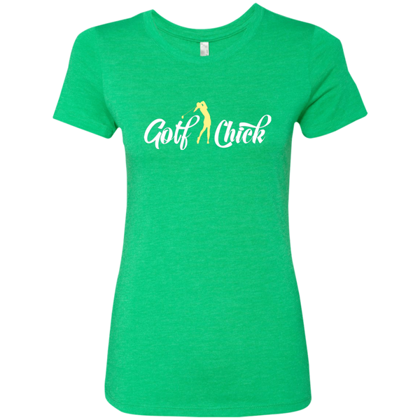 Golf Chick- yellow - Ladies' Tri-blend T-Shirt