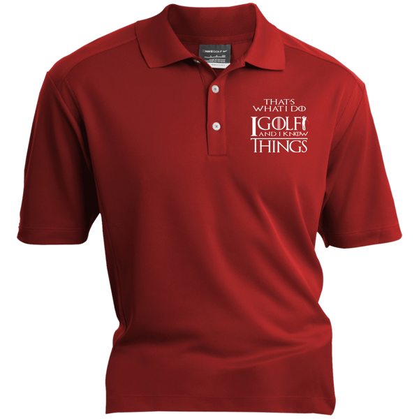 I Golf And I Know Things - Embroidered Nike® Dri-Fit Polo Shirt Red