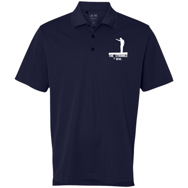 Struggle Is Real - Adidas Golf ClimaLite Basic Performance Pique Polo Navy Blue