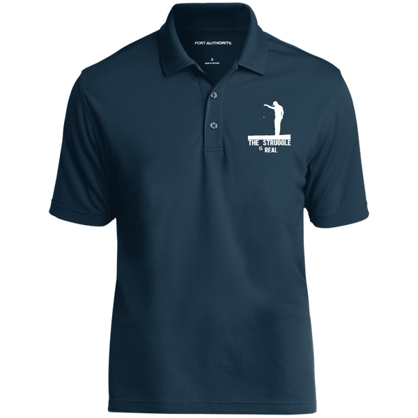 The Struggle Is Real- Port Authority Dry Zone UV Micro-Mesh Polo Dark Blue
