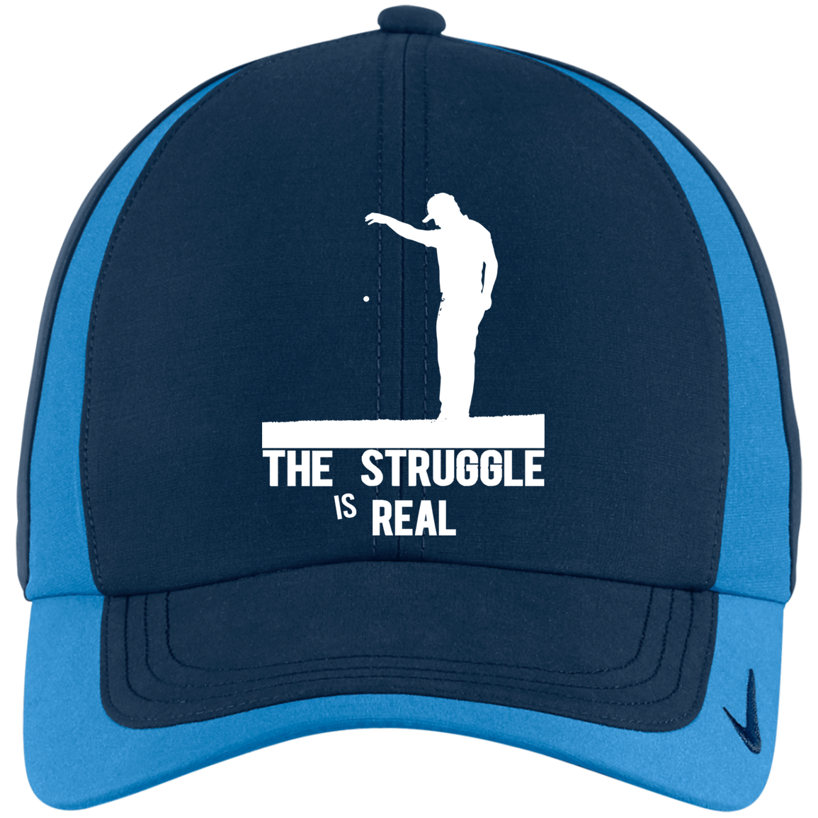Struggle Is Real_FULL WHITE_new Struggle Is Real - Golf Embroidered Hats