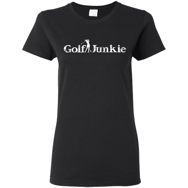golf junkie women's golf t-shirt black