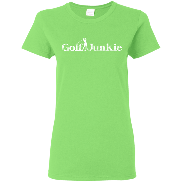golf junkie women's golf t-shirt lime